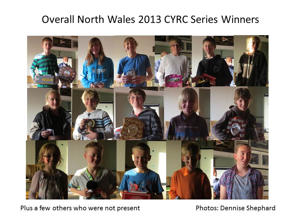 Overall North Wales 2013 CYRC Series Winners